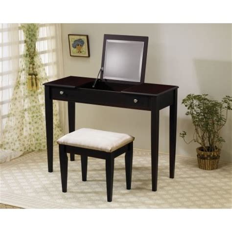 Makeup Chair Walmart by Coaster Vanity And Vanity Stool In Cappuccino Finish