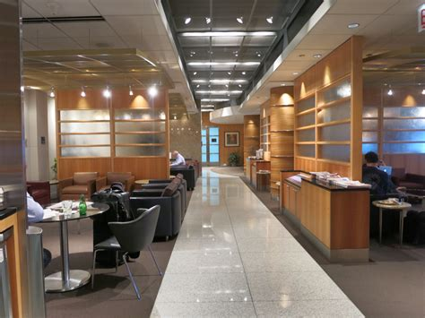review american  class lounge chicago ohare  business class chicago paris view