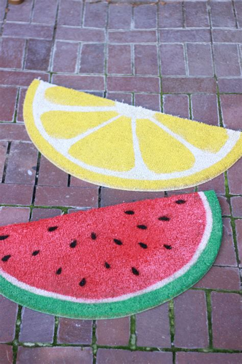 watermelon kitchen rugs weekend project fruit welcome mats the house that lars built
