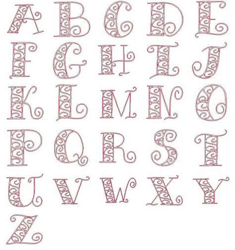 free printable alphabet letters for embroidery shops fonts and 4x4 on pinterest