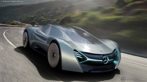 Mercedes Benz Elk Fits The Future Ev Supercar Bill Carscoops