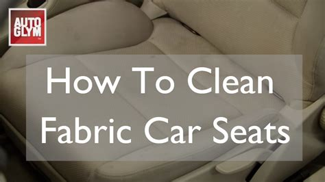 How To Clean Car Interior At Home How To Clean Fabric Car Seats Youtube