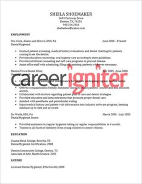 click here to this registered dental hygienist resume template http www
