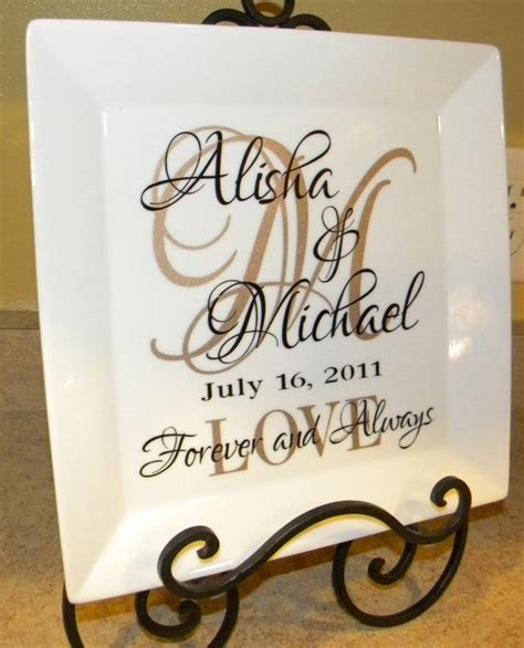 Wedding Font Silhouette by Personalized Wedding Gift S Names And Initial