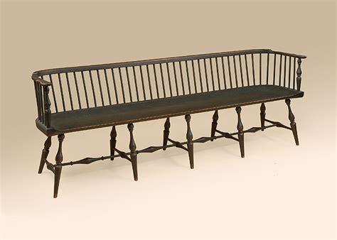 windsor bench historical long low back windsor settee