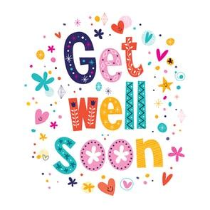 Free Template Get Well Card by Cheerful Hearts Free Get Well Soon Card Greetings Island
