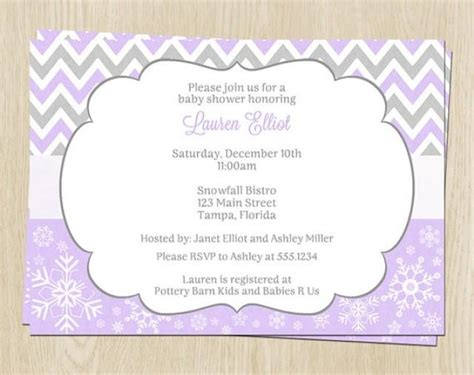 Winter Baby Shower Invitations by Winter Baby Shower Invitations Chevron Stripes Lavneder