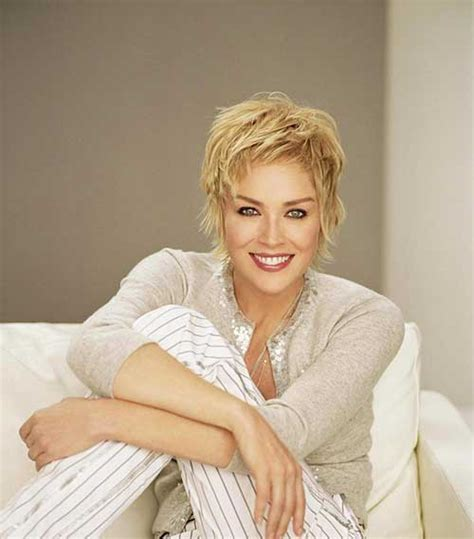 how to style sharon stones short hair style sharon stone layered pixie hair pinterest sharon