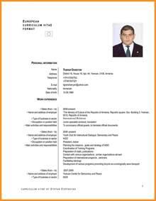 9 cv models in english fillin resume