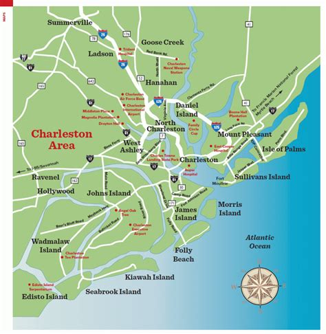 area map charleston sc maps traveler mag