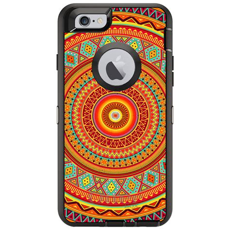 otterbox defender for iphone 7 8 plus x xs max xr orange teal yellow tribal ebay