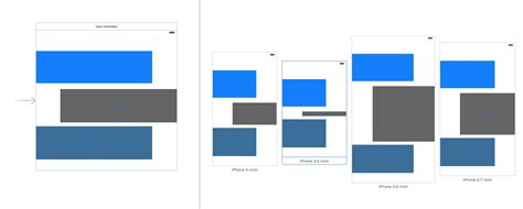 xcode layout for all devices ios how to position buttons on story board for all