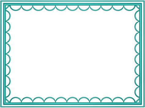 Free Frames And Borders Png Aqua Artistic Loop Free Powerpoint Borders