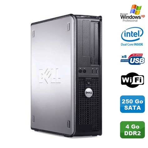 Cpu Dualcore E2180 Hdd 250gb Sata Memory 2 Gb Siap Pakai pc dell optiplex 360 dt intel dual e5200 2 5 ghz 4gb ddr2 wifi 250go xp ebay
