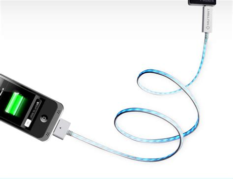 illuminated led iphone charger cable light up iphone charging cable craziest gadgets