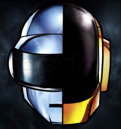 How to draw daft punk helmets step by step music pop culture free