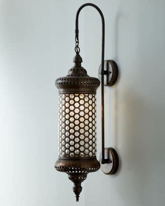 Moroccan Wall Sconce Moroccan Metal Sconce Traditional Wall Lighting By Horchow