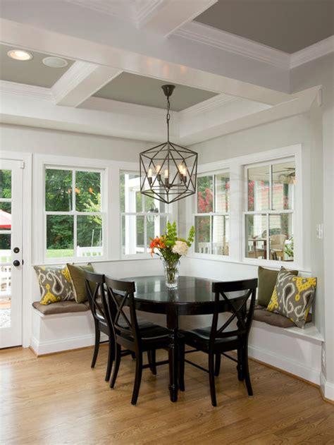 farmhouse dining room  gray walls design ideas