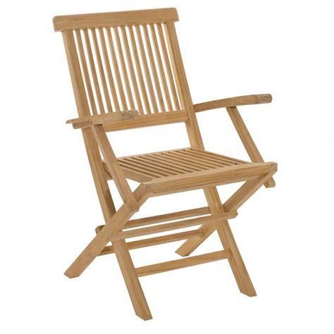 fauteuil pliant confortable fauteuil pliant en teck sumbara lot de 2