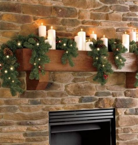 6ft cascading fireplace garland indoor 6 ft cascading mantle garland with clear lights 389884 ebay