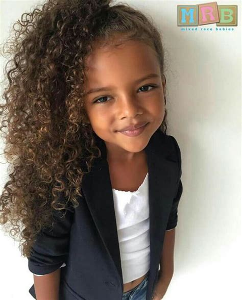 pictures of biracial children with curly long hair mixed race babies image 3817048 by bobbym on favim com