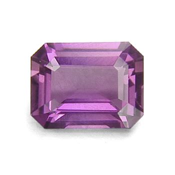 lovely purple emerald cut sapphire engagement ring the