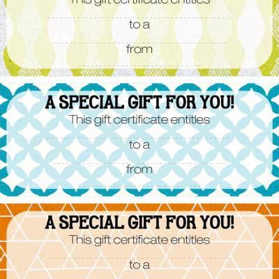 blank gift certificates saving money tip junkie