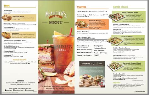 Mcalister S Printable Menu mcalister s deli menu printable related keywords