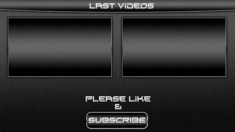 Black Outro Template Video For Sony Vegas Pro 11 Download Link Youtube Outros Templates