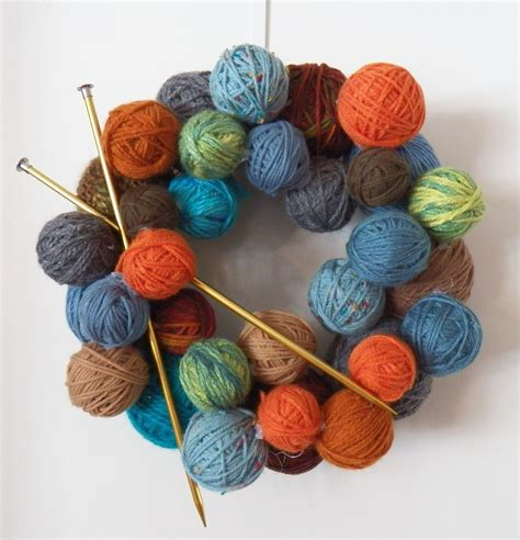 how to do a yarn in knitting yarn wreath quot a place for learning quot