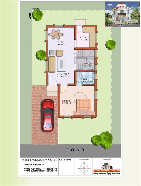 ground floor plan of a house house plan for south facing plot modern west lily a g f ground floor plans design charvoo