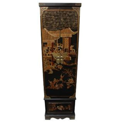 oriental jewelry armoire oriental furniture black lacquer floor jewelry armoire