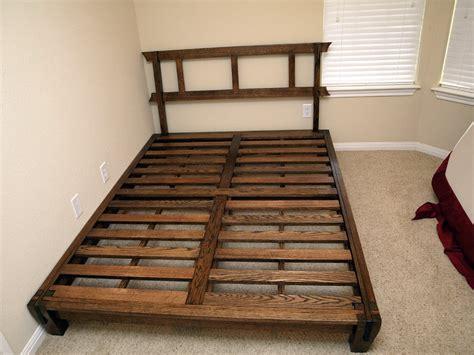 japanese bed frame japanese platform bed by chriskmb5150 lumberjocks com