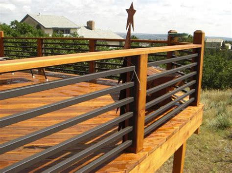 Cheap Banister Ideas by Wood Deck Railing Ideas Architectural Design