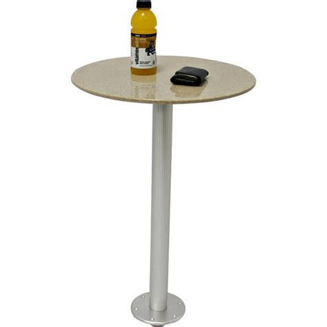 Sandstone Corian Table With Pedestal Boat Outfitters Boat Table Pedestal