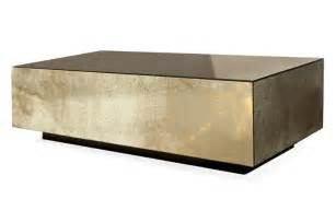 Cube Coffee Table Floating Cube Coffee Table Bradley Heavy Burnished Gold Antiqued Mirror Residence