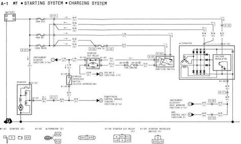 1994 mazda rx 7 starting system and charging system wiring
