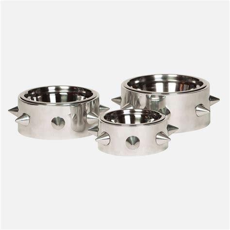 designer dog bowls spiked alpha dog bowl designer dog bowls at glamourmutt com