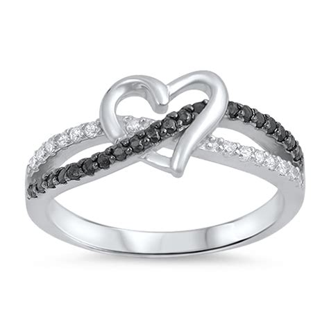 infinity knot promise ring new 925 sterling silver