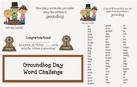 groundhog day meaning phrase classroom freebies groundhog day word