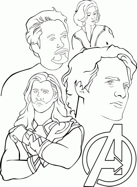 printable avengers coloring pages coloring home