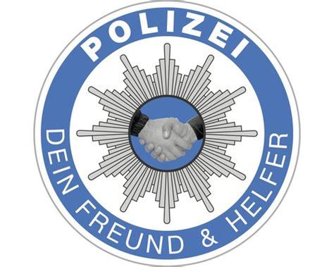 Aufkleber Polizei Dein Freund Und Helfer aufkleber quot polizei dein freund und helfer quot 216 60 mm bei