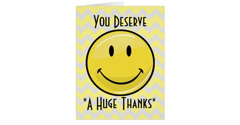 A Great Big Thankyou by A Great Big Smile Thank You Card Zazzle