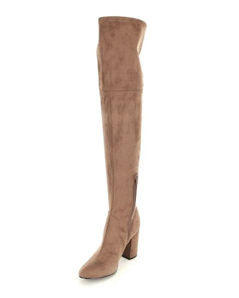 guess the knee boots guess arla the knee boots in gray lyst