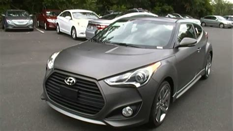 hyundai veloster turbo matte black 2013 hyundai veloster turbo matte grey finish youtube