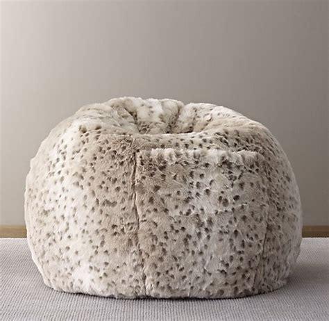 leopard skin bean bag luxe faux fur bean bag snow leopard
