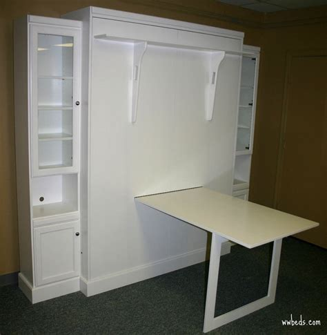 murphy bed with a desk custom by chris davis