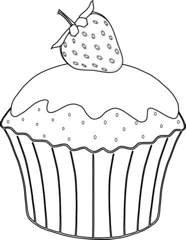 mini cupcake coloring page coloriage muffin aux fraises coloriages 224 imprimer