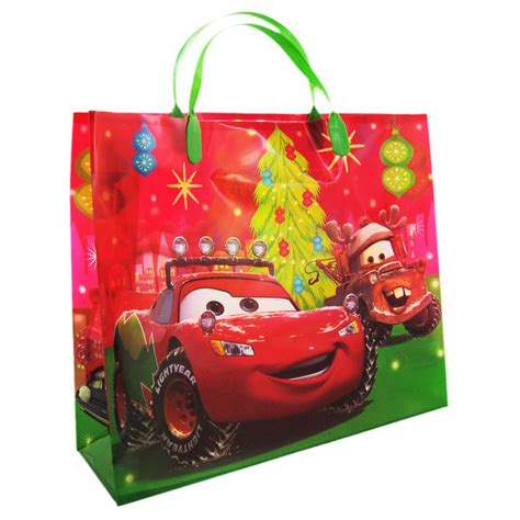 cars red christmas gift bag disney gift bags at the works