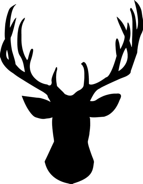 hd reindeer silhouette template image vector images